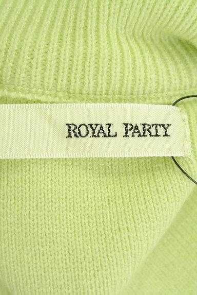 ROYAL PARTY(ロイヤルパーティ)の古着「袖口ボタンモックネックニットワンピ(ワンピース・チュニック)」大画像6へ