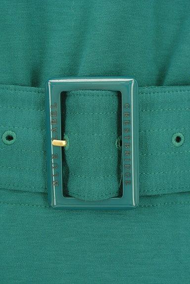 BLUE LABEL CRESTBRIDGE(ブルーレーベル・クレストブリッジ)の古着「ベルト付き膝下丈ドルマンフレアワンピ(ワンピース・チュニック)」大画像4へ