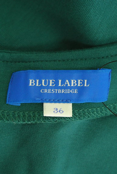 BLUE LABEL CRESTBRIDGE(ブルーレーベル・クレストブリッジ)の古着「ベルト付き膝下丈ドルマンフレアワンピ(ワンピース・チュニック)」大画像6へ