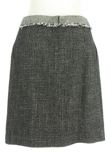 ROPE(ロペ)の古着「起毛ツイードフリンジ膝上丈スカート(ミニスカート)」大画像2へ