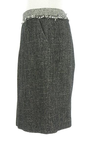 ROPE(ロペ)の古着「起毛ツイードフリンジ膝上丈スカート(ミニスカート)」大画像3へ