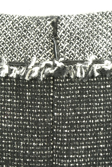 ROPE(ロペ)の古着「起毛ツイードフリンジ膝上丈スカート(ミニスカート)」大画像4へ