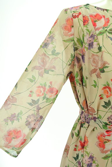 Sybilla(シビラ)の古着「花柄シフォンロングワンピース(ワンピース・チュニック)」大画像5へ