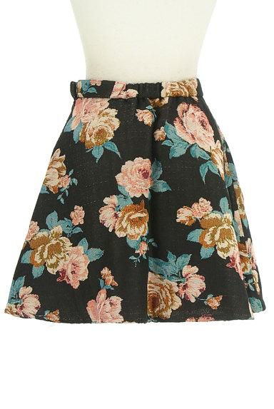 rienda(リエンダ)の古着「花柄ジャガード膝上丈フレアスカート(ミニスカート)」大画像2へ