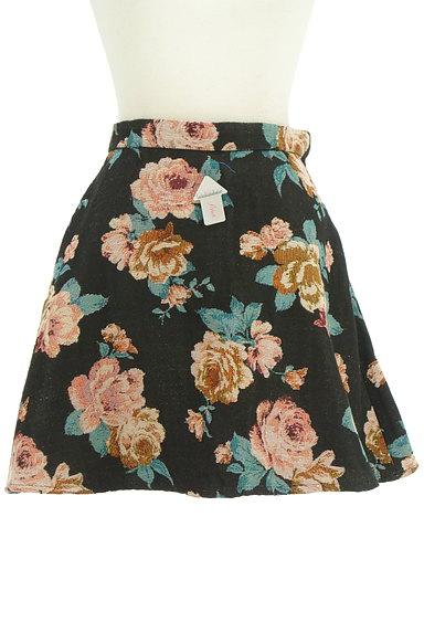 rienda(リエンダ)の古着「花柄ジャガード膝上丈フレアスカート(ミニスカート)」大画像4へ