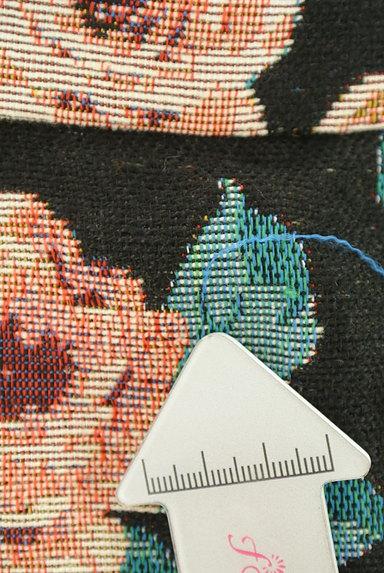 rienda(リエンダ)の古着「花柄ジャガード膝上丈フレアスカート(ミニスカート)」大画像5へ