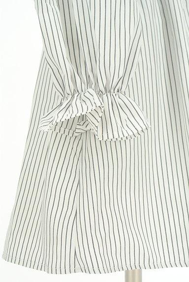 rienda(リエンダ)の古着「刺繍ストライプ柄オフショルカットソー(カットソー・プルオーバー)」大画像5へ