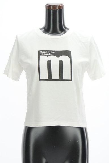 MURUA(ムルーア)の古着「モノトーンロゴTシャツ(Tシャツ)」大画像1へ