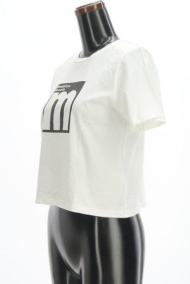MURUA(ムルーア)の古着「モノトーンロゴTシャツ(Tシャツ)」大画像3へ