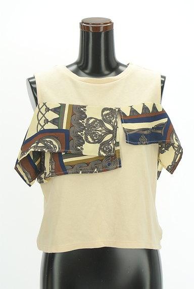 MURUA(ムルーア)の古着「スカーフフリルカットソー(カットソー・プルオーバー)」大画像1へ