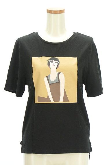 MURUA(ムルーア)の古着「プリントスリットTシャツ(Tシャツ)」大画像1へ