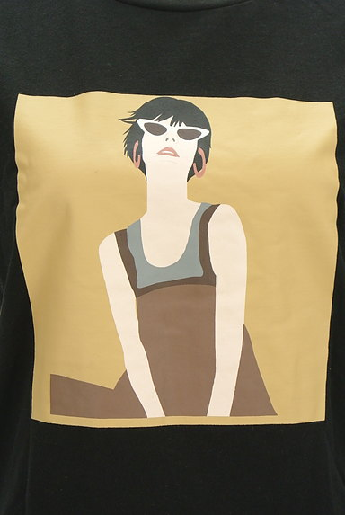 MURUA(ムルーア)の古着「プリントスリットTシャツ(Tシャツ)」大画像4へ