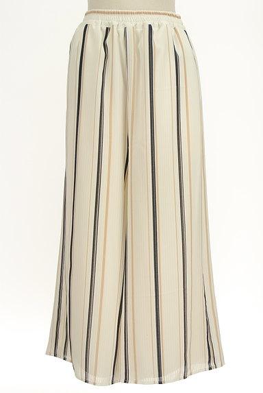 MURUA(ムルーア)の古着「ストライプシフォンワイドパンツ(パンツ)」大画像1へ