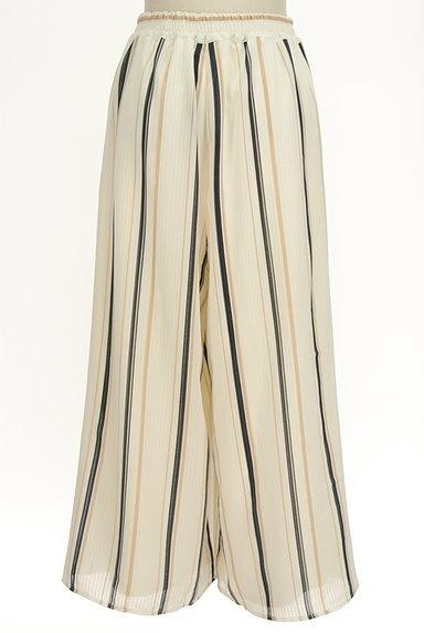 MURUA(ムルーア)の古着「ストライプシフォンワイドパンツ(パンツ)」大画像2へ
