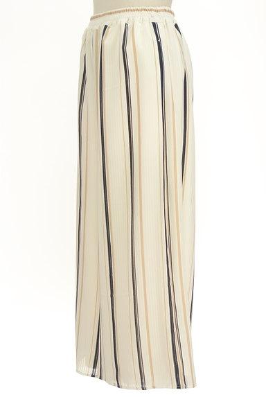 MURUA(ムルーア)の古着「ストライプシフォンワイドパンツ(パンツ)」大画像3へ