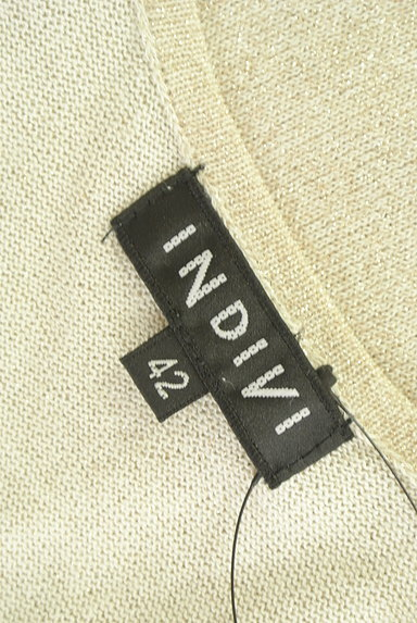 INDIVI(インディヴィ)の古着「ゴールドラメニット(ニット)」大画像6へ