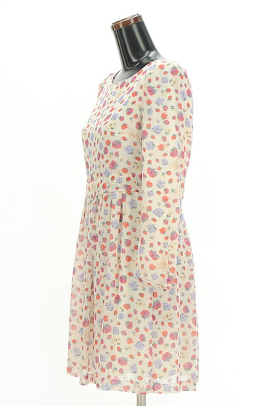 31 Sons de mode(トランテアン ソン ドゥ モード)の古着「レトロ花柄シフォンワンピース(ワンピース・チュニック)」大画像3へ