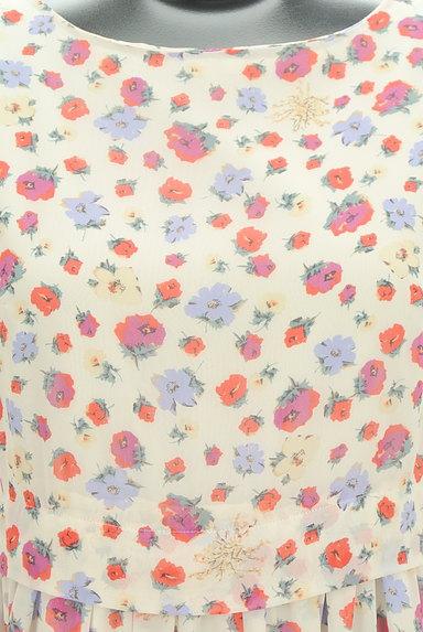 31 Sons de mode(トランテアン ソン ドゥ モード)の古着「レトロ花柄シフォンワンピース(ワンピース・チュニック)」大画像4へ