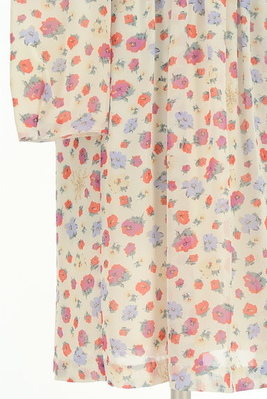 31 Sons de mode(トランテアン ソン ドゥ モード)の古着「レトロ花柄シフォンワンピース(ワンピース・チュニック)」大画像5へ