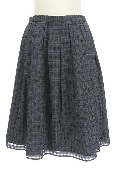 UNITED ARROWS(ユナイテッドアローズ)の古着「チェック柄シフォンフレアスカート(スカート)」大画像1へ