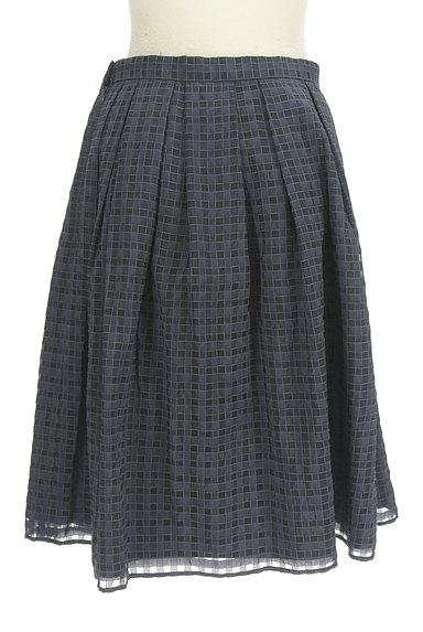 UNITED ARROWS(ユナイテッドアローズ)の古着「チェック柄シフォンフレアスカート(スカート)」大画像2へ