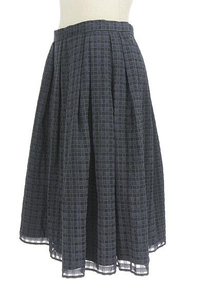UNITED ARROWS(ユナイテッドアローズ)の古着「チェック柄シフォンフレアスカート(スカート)」大画像3へ