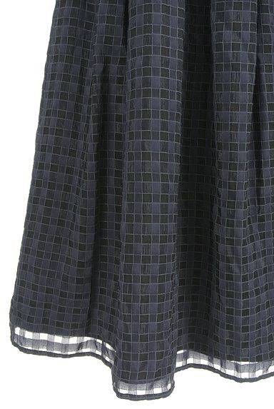 UNITED ARROWS(ユナイテッドアローズ)の古着「チェック柄シフォンフレアスカート(スカート)」大画像5へ