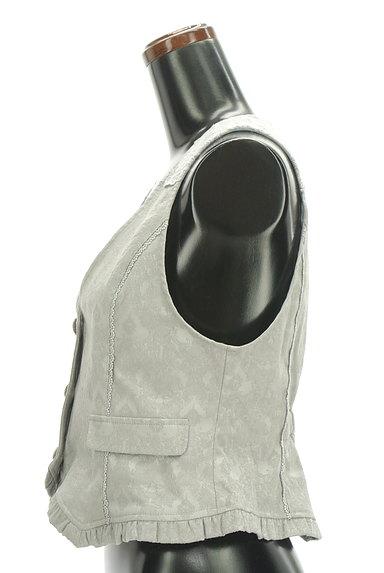 axes femme(アクシーズファム)の古着「ジャガードフリルレースベスト(ベスト・ジレ)」大画像3へ