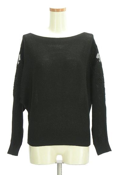 axes femme(アクシーズファム)の古着「袖チュール刺繍ドルマンニット(ニット)」大画像1へ