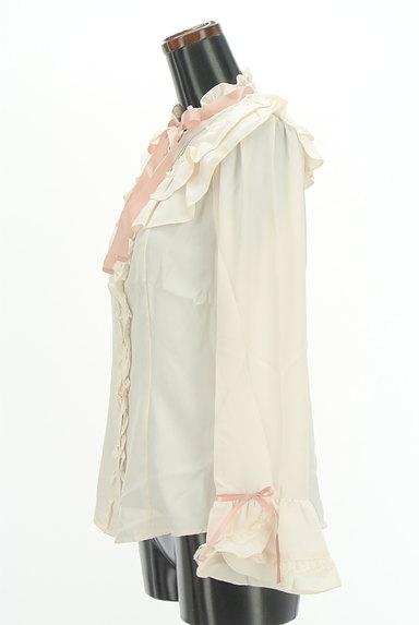 axes femme(アクシーズファム)の古着「サテンリボン付フリルブラウス(ブラウス)」大画像3へ