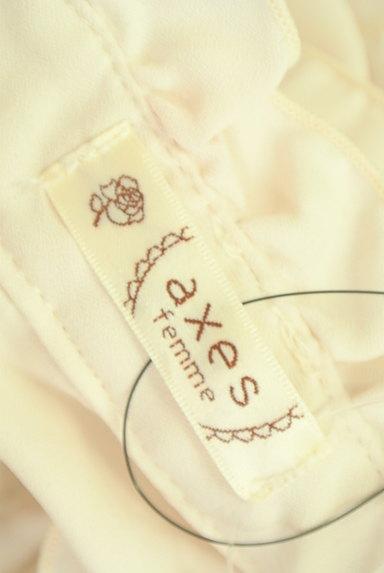 axes femme(アクシーズファム)の古着「サテンリボン付フリルブラウス(ブラウス)」大画像6へ