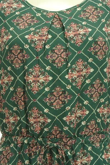 axes femme(アクシーズファム)の古着「総柄ドロストマキシワンピース(ワンピース・チュニック)」大画像4へ