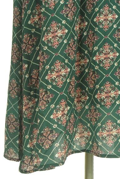 axes femme(アクシーズファム)の古着「総柄ドロストマキシワンピース(ワンピース・チュニック)」大画像5へ