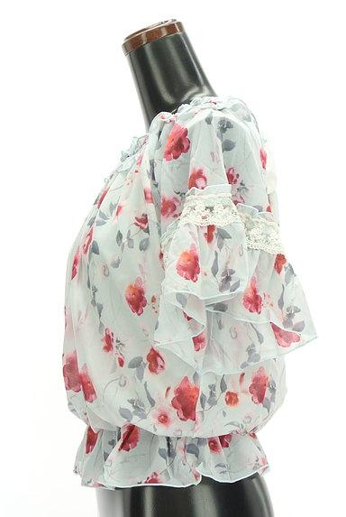 axes femme(アクシーズファム)の古着「バックリボン花柄シフォンカットソー(カットソー・プルオーバー)」大画像3へ