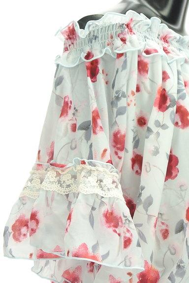 axes femme(アクシーズファム)の古着「バックリボン花柄シフォンカットソー(カットソー・プルオーバー)」大画像5へ