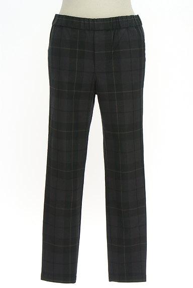 TOMORROWLAND(トゥモローランド)の古着「チェック柄スリムテーパードパンツ(パンツ)」大画像1へ
