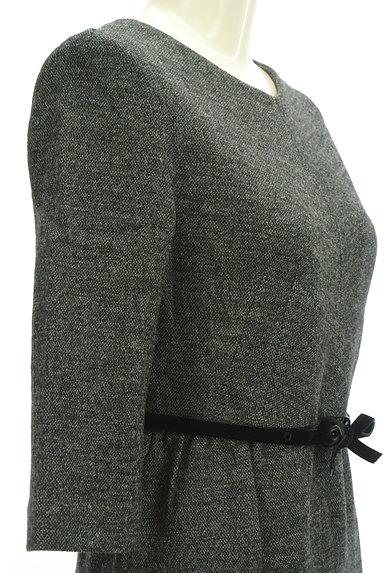 STRAWBERRY-FIELDS(ストロベリーフィールズ)の古着「7分袖ウールタックワンピース(ワンピース・チュニック)」大画像5へ