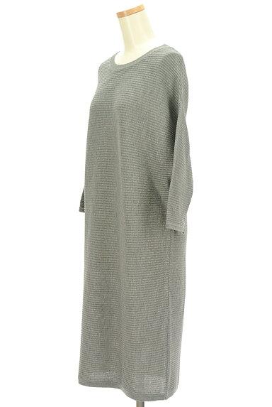 AZUL by moussy(アズールバイマウジー)の古着「8分袖ドルマンロングワンピース(ワンピース・チュニック)」大画像3へ