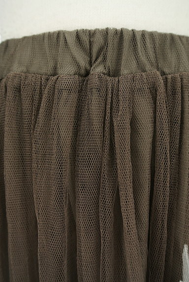 rienda(リエンダ)の古着「花刺繍ミモレ丈チュールスカート(ロングスカート・マキシスカート)」大画像4へ