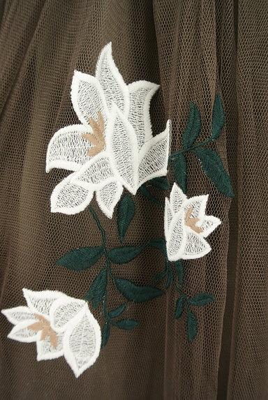 rienda(リエンダ)の古着「花刺繍ミモレ丈チュールスカート(ロングスカート・マキシスカート)」大画像5へ
