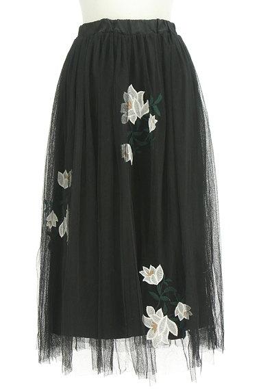 rienda(リエンダ)の古着「花柄刺繍チュールスカート(ロングスカート・マキシスカート)」大画像1へ