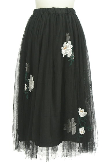 rienda(リエンダ)の古着「花柄刺繍チュールスカート(ロングスカート・マキシスカート)」大画像2へ