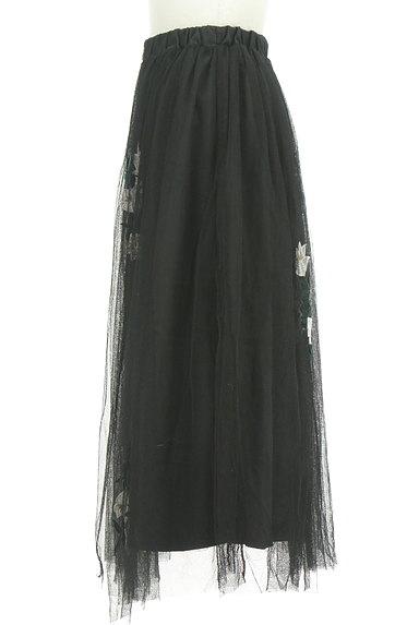rienda(リエンダ)の古着「花柄刺繍チュールスカート(ロングスカート・マキシスカート)」大画像3へ