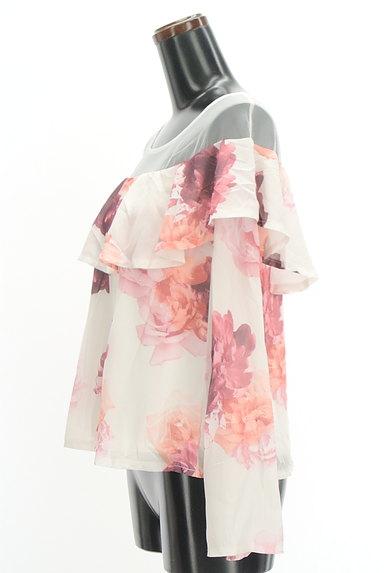 rienda(リエンダ)の古着「チュール切替花柄シフォンカットソー(カットソー・プルオーバー)」大画像3へ