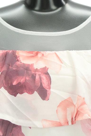 rienda(リエンダ)の古着「チュール切替花柄シフォンカットソー(カットソー・プルオーバー)」大画像4へ