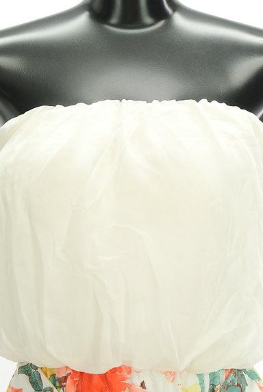 rienda(リエンダ)の古着「シフォン花柄切替ベアワンピ(キャミワンピース)」大画像4へ