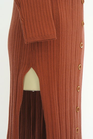 REDYAZEL(レディアゼル)の古着「サイドスリットリブワンピース(ワンピース・チュニック)」大画像5へ