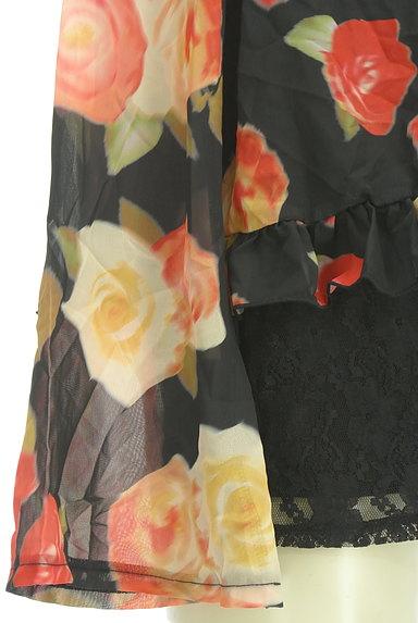 rienda(リエンダ)の古着「花柄シフォンカットソー(カットソー・プルオーバー)」大画像5へ