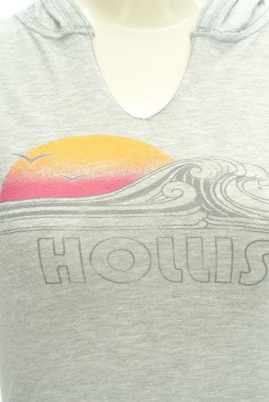 Hollister Co.(ホリスター)の古着「キーネックフーディカットソー(カットソー・プルオーバー)」大画像4へ