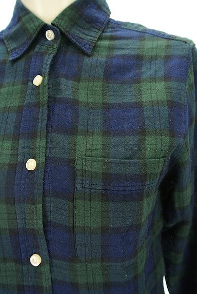 SM2(サマンサモスモス)の古着「チェック柄シャツ(カジュアルシャツ)」大画像4へ